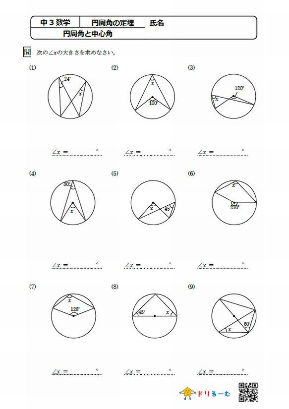 円周角と中心角